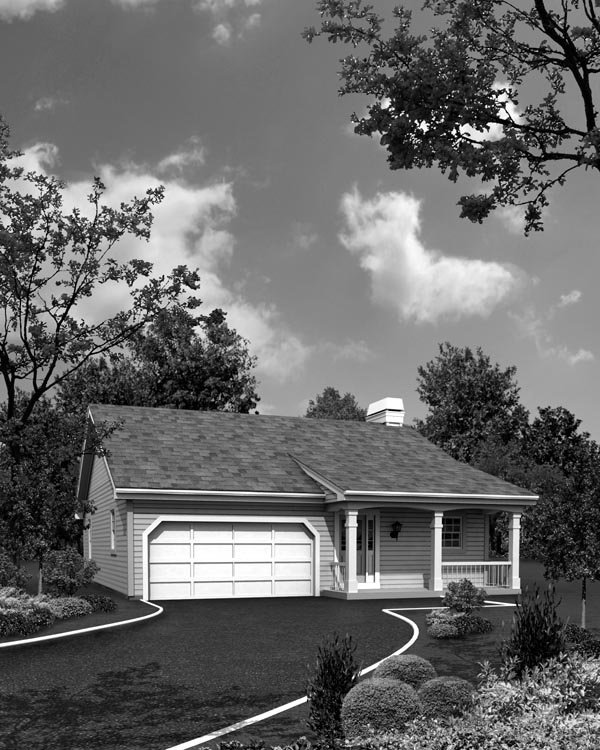 Cabin, Cottage, Country, Ranch, Traditional House Plan 95818 with 3 Beds, 2 Baths, 2 Car Garage Picture 3