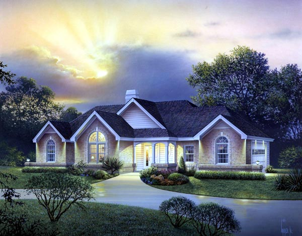Country, Craftsman, Ranch, Traditional House Plan 95823 with 4 Beds, 3 Baths, 2 Car Garage Elevation