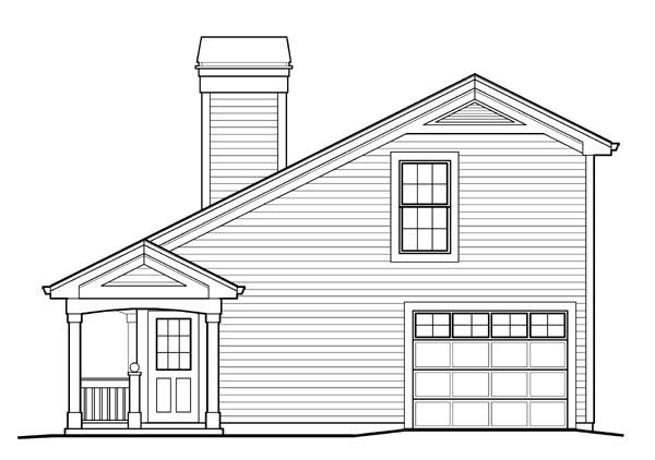 Country House Plan 95829 with 1 Beds, 2 Baths, 1 Car Garage Picture 2
