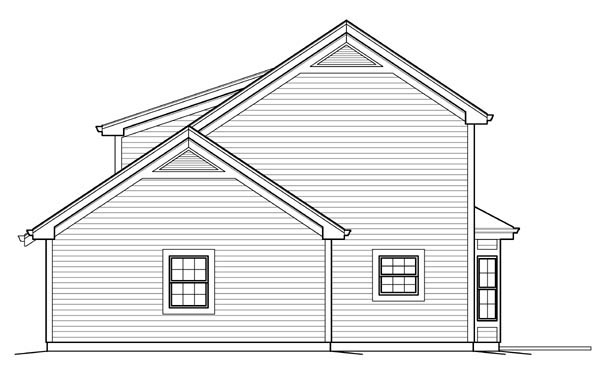 Contemporary, Country House Plan 95832 with 1 Beds, 2 Baths, 4 Car Garage Picture 2