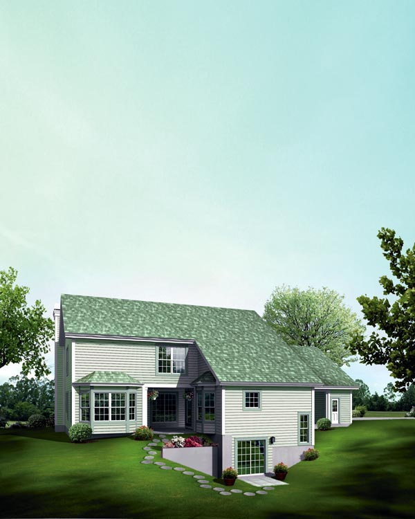 Contemporary, Country House Plan 95849 with 5 Beds, 6 Baths, 2 Car Garage Rear Elevation