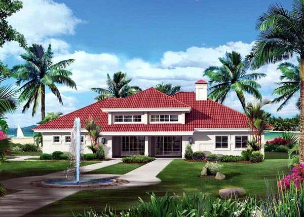Contemporary, Ranch, Southwest House Plan 95867 with 3 Beds, 3 Baths, 2 Car Garage Elevation