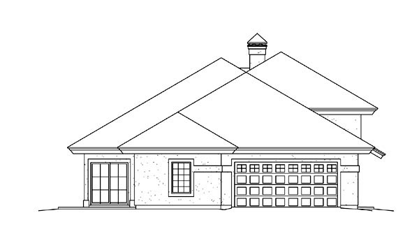 Contemporary, Ranch, Southwest House Plan 95867 with 3 Beds, 3 Baths, 2 Car Garage Picture 1