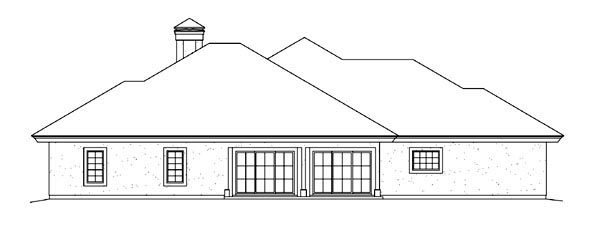 Contemporary, Ranch, Southwest House Plan 95867 with 3 Beds, 3 Baths, 2 Car Garage Rear Elevation
