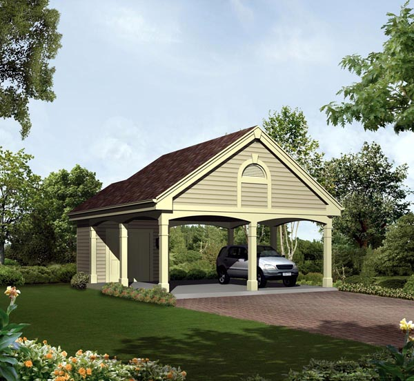 2 Car Garage Plan 95914 Elevation
