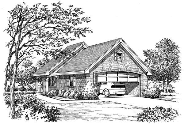 2 Car Garage Apartment Plan 95918 Picture 1