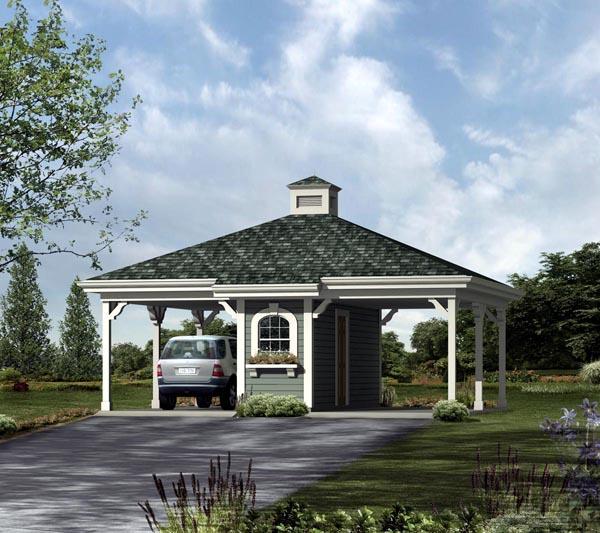 2 Car Garage Plan 95928 Front Elevation