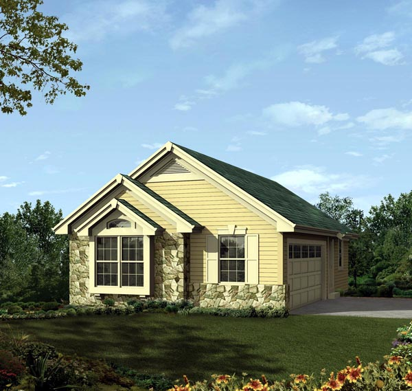 2 Car Garage Plan 95937 Front Elevation
