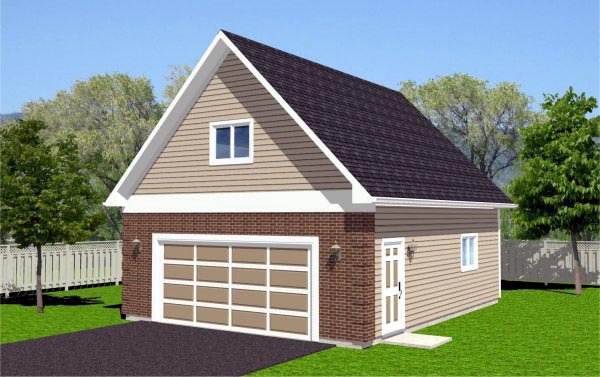 Traditional 2 Car Garage Plan 96208 Elevation