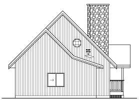 Contemporary House Plan 96212 with 2 Beds, 2 Baths, 2 Car Garage Rear Elevation