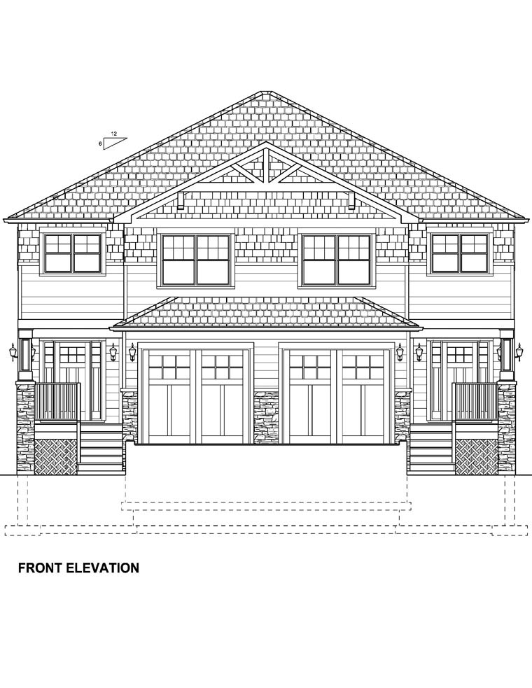 Craftsman Multi-Family Plan 96213 with 10 Beds, 8 Baths, 2 Car Garage Picture 3