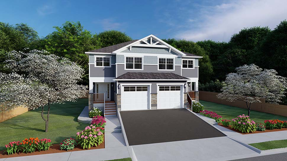 Craftsman Multi-Family Plan 96213 with 10 Beds, 8 Baths, 2 Car Garage Picture 4