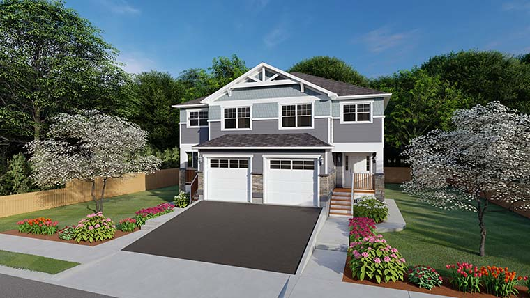 Craftsman Multi-Family Plan 96213 with 10 Beds, 8 Baths, 2 Car Garage Picture 5