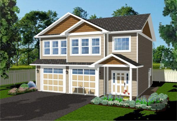 2 Car Garage Apartment Plan 96214 with 2 Beds, 2 Baths Elevation