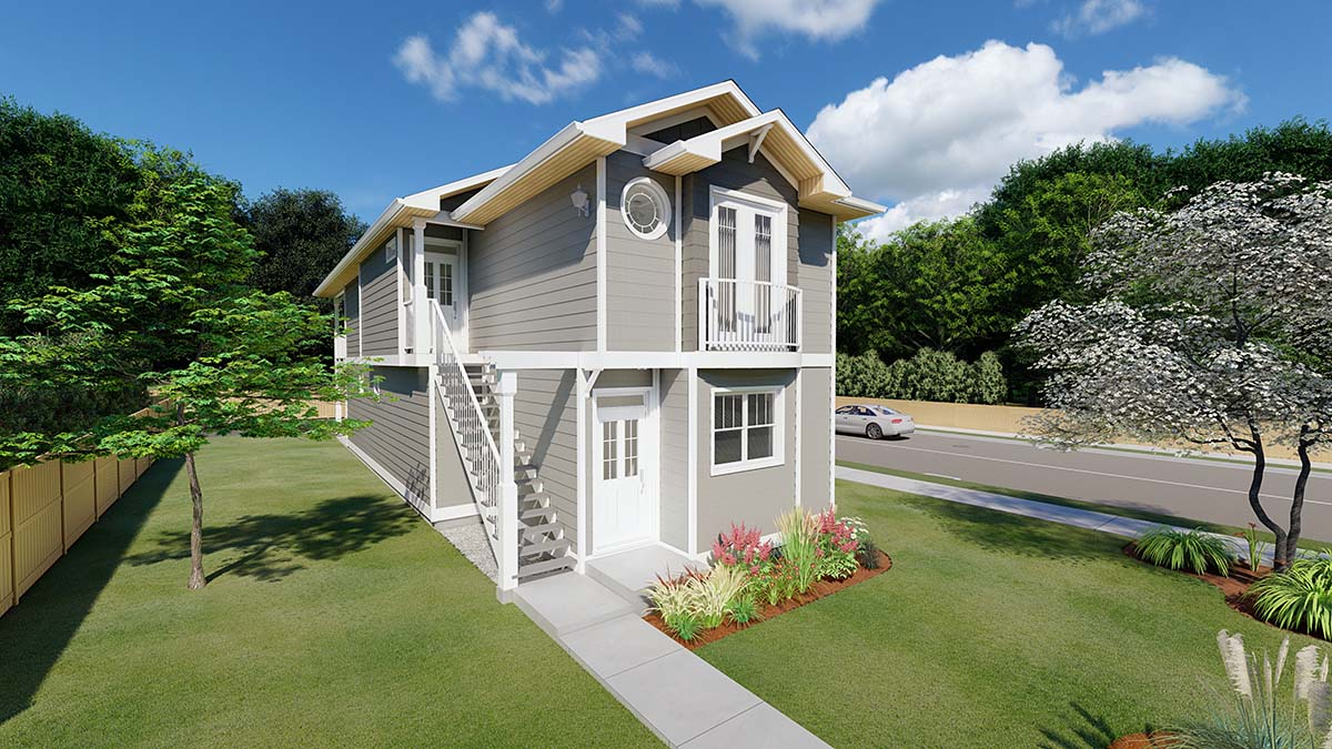 Traditional Multi-Family Plan 96230 with 5 Beds, 4 Baths Elevation