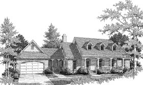 Cape Cod, Country House Plan 96542 with 3 Beds, 2 Baths, 1 Car Garage Elevation