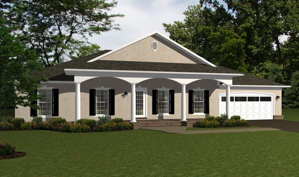 Ranch, Traditional House Plan 96707 with 4 Beds, 3 Baths, 2 Car Garage Elevation