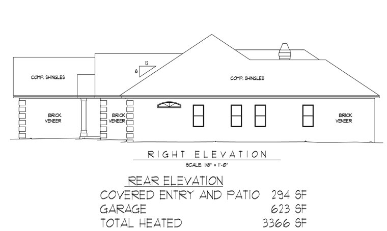 Traditional House Plan 96817 with 5 Beds, 4 Baths, 2 Car Garage Picture 2