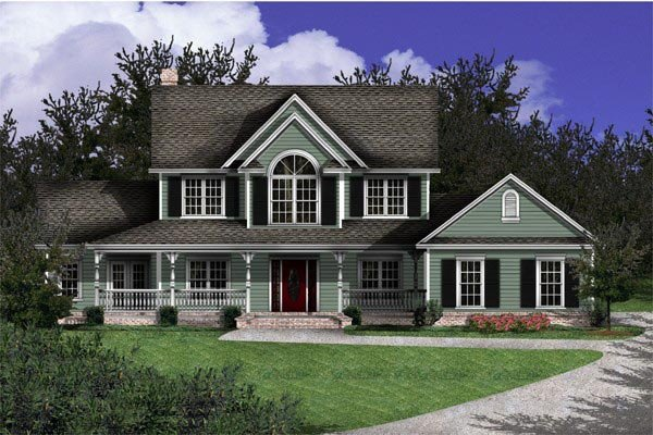 Country, Farmhouse, Southern House Plan 96820 with 4 Beds, 3 Baths Picture 1