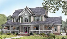 Country, Farmhouse House Plan 96826 with 4 Beds, 3 Baths, 2 Car Garage Elevation