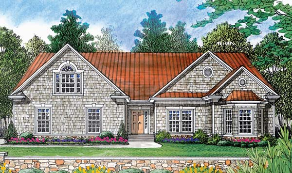 Cottage, Craftsman House Plan 96938 with 2 Beds, 2 Baths, 2 Car Garage Elevation