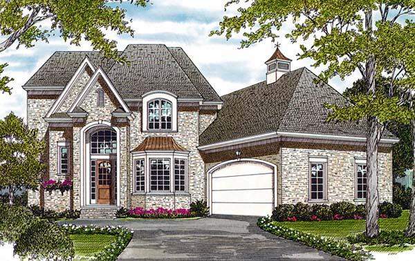 European House Plan 97029 with 4 Beds, 4 Baths, 2 Car Garage Elevation