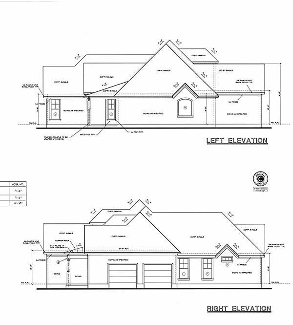 European House Plan 97406 with 4 Beds, 3 Baths, 2 Car Garage Picture 4