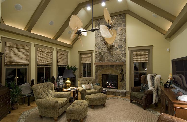 Country, Southern, Traditional House Plan 97606 with 3 Beds, 3 Baths, 2 Car Garage Picture 2