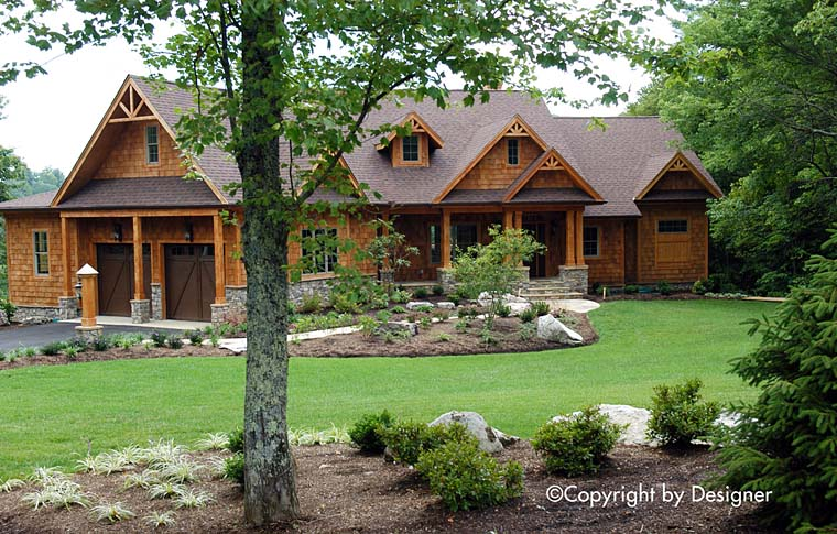Cottage, Country, Craftsman, Southern, Traditional House Plan 97611 with 3 Beds, 3 Baths, 2 Car Garage Elevation