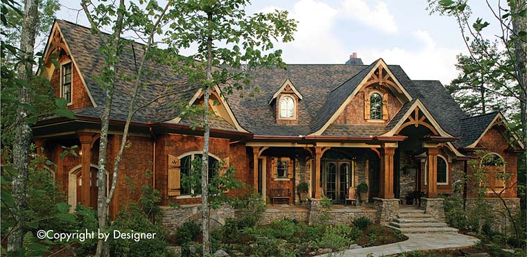 Cottage, Country, Craftsman, Traditional House Plan 97630 with 3 Beds, 3 Baths, 2 Car Garage Elevation