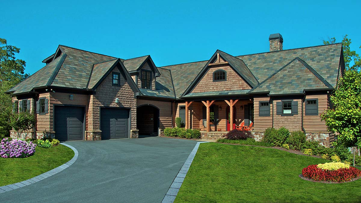 Country, Craftsman, Tuscan House Plan 97637 with 3 Beds, 4 Baths, 3 Car Garage Elevation
