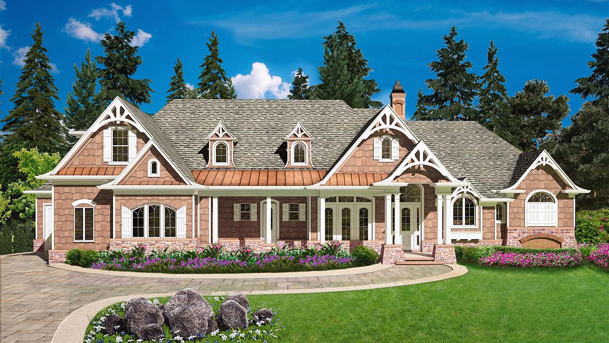 Country, Farmhouse, Southern House Plan 97677 with 4 Beds, 4 Baths, 3 Car Garage Elevation