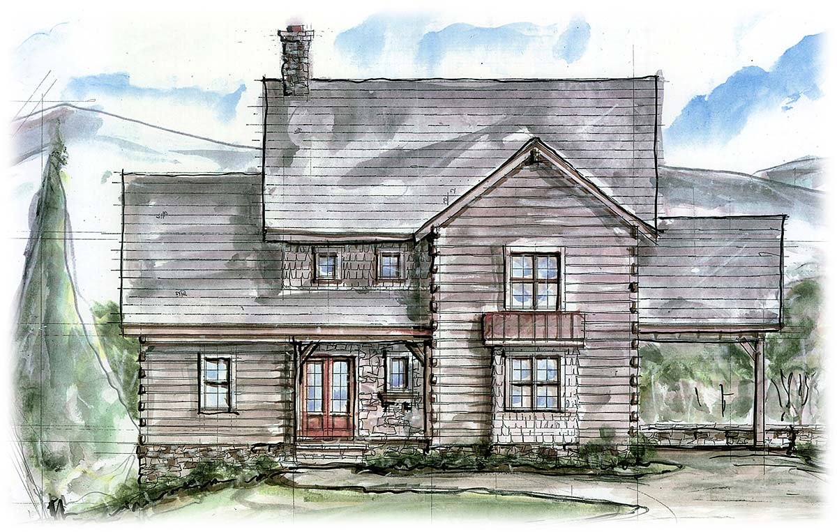 Country, Craftsman, Farmhouse, Southern House Plan 97686 with 3 Beds, 4 Baths, 1 Car Garage Elevation