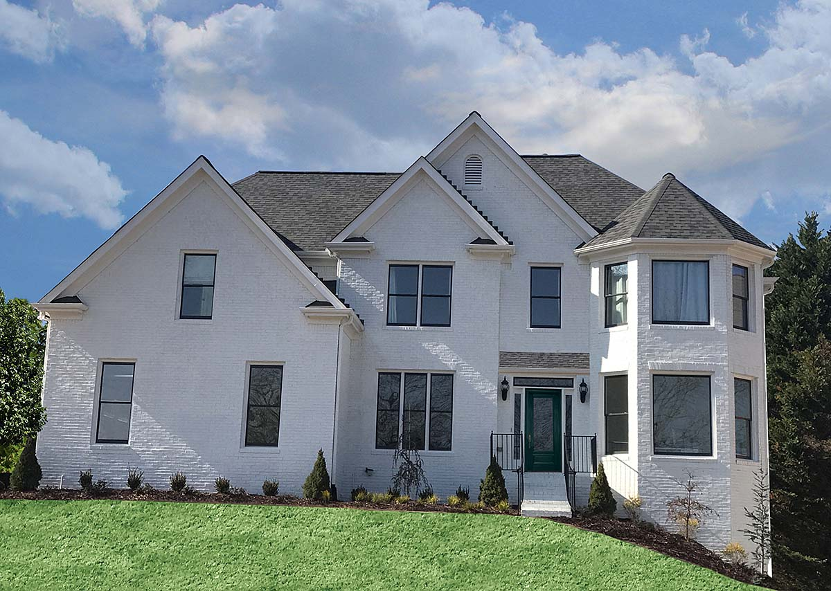 Country, French Country, Traditional House Plan 97691 with 4 Beds, 4 Baths, 2 Car Garage Front Elevation