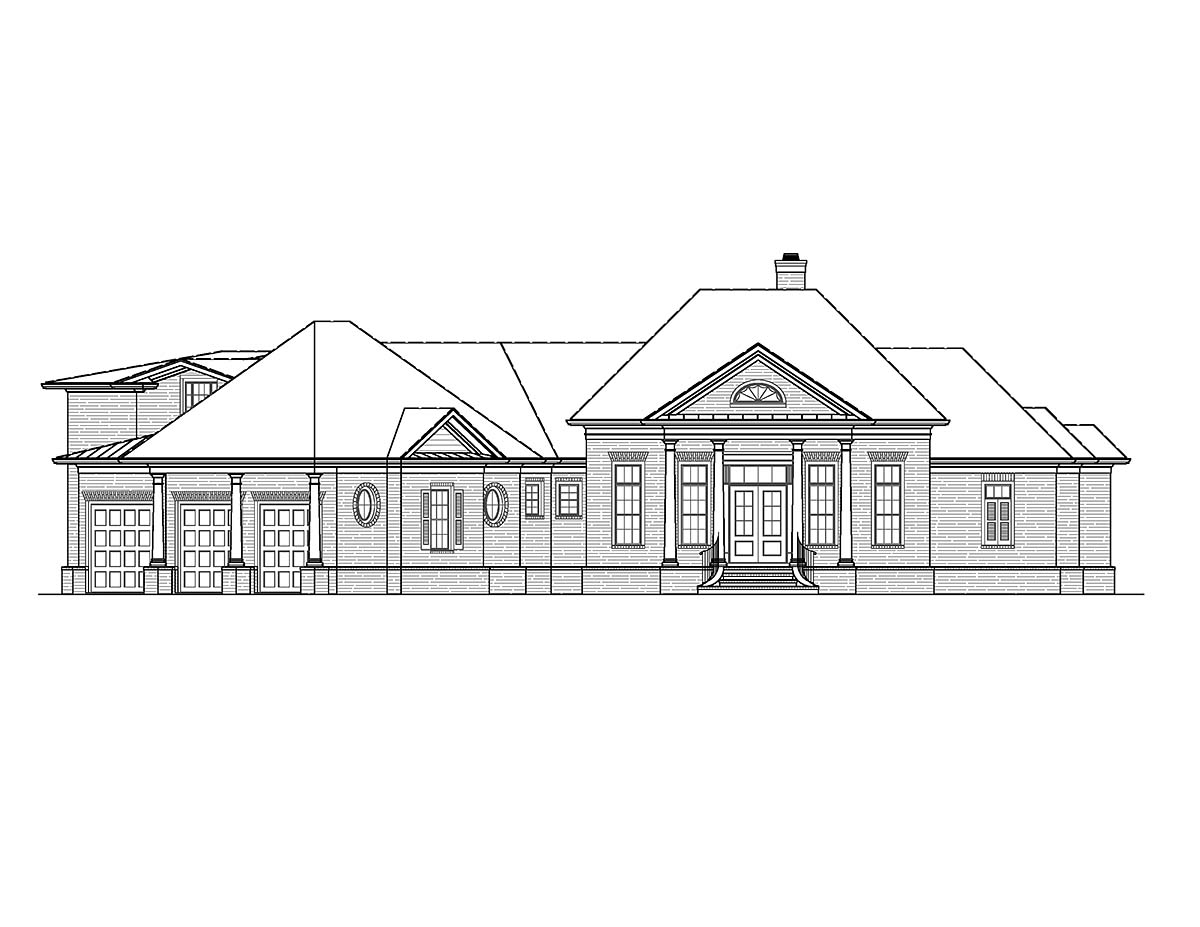 Ranch, Traditional House Plan 97692 with 5 Beds, 6 Baths, 3 Car Garage Picture 1