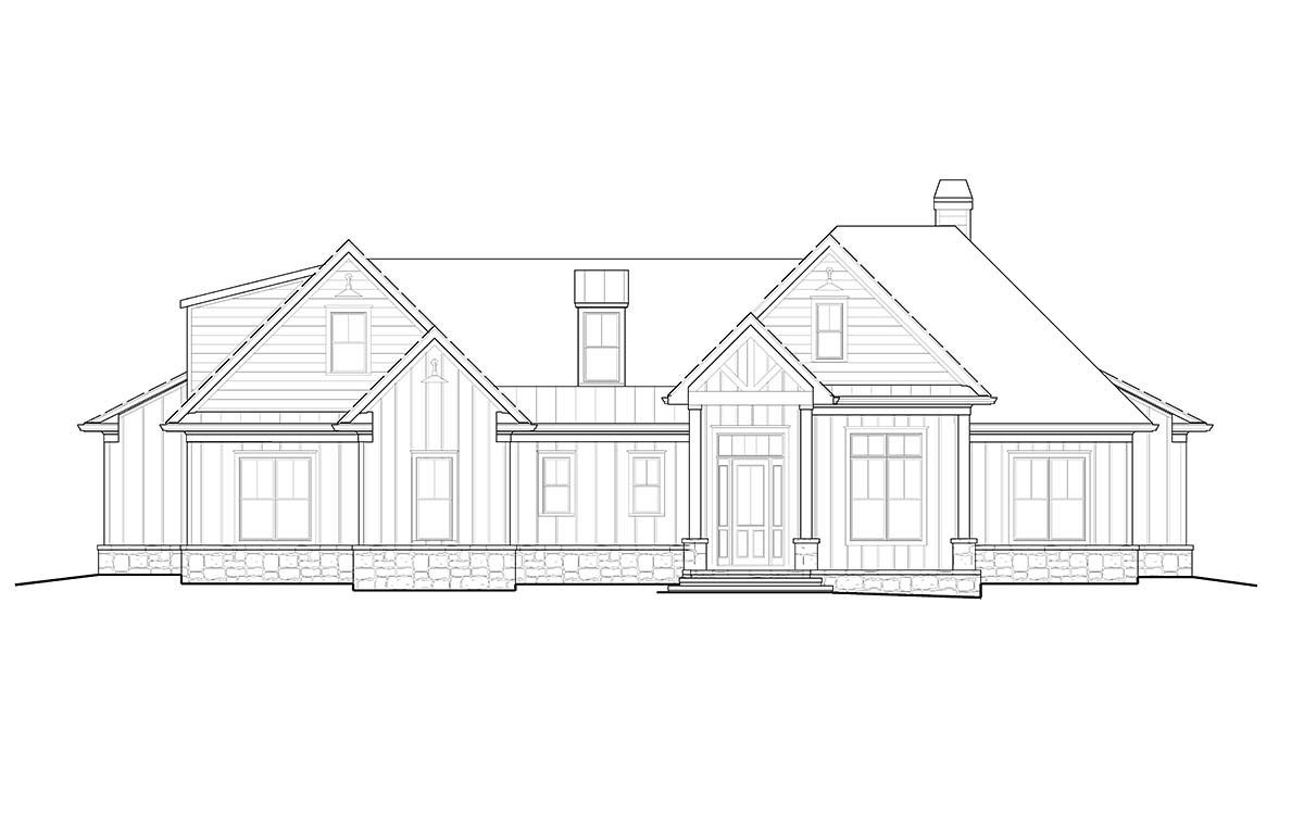 Craftsman, Farmhouse, Ranch House Plan 97694 with 4 Beds, 4 Baths, 2 Car Garage Picture 1