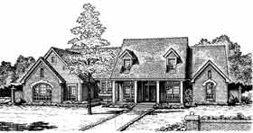 Cape Cod, Country, French Country House Plan 97806 with 4 Beds, 4 Baths, 3 Car Garage Elevation