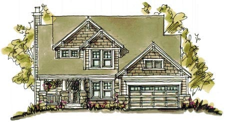 Bungalow, Country, Craftsman House Plan 97944 with 3 Beds, 4 Baths, 2 Car Garage Elevation