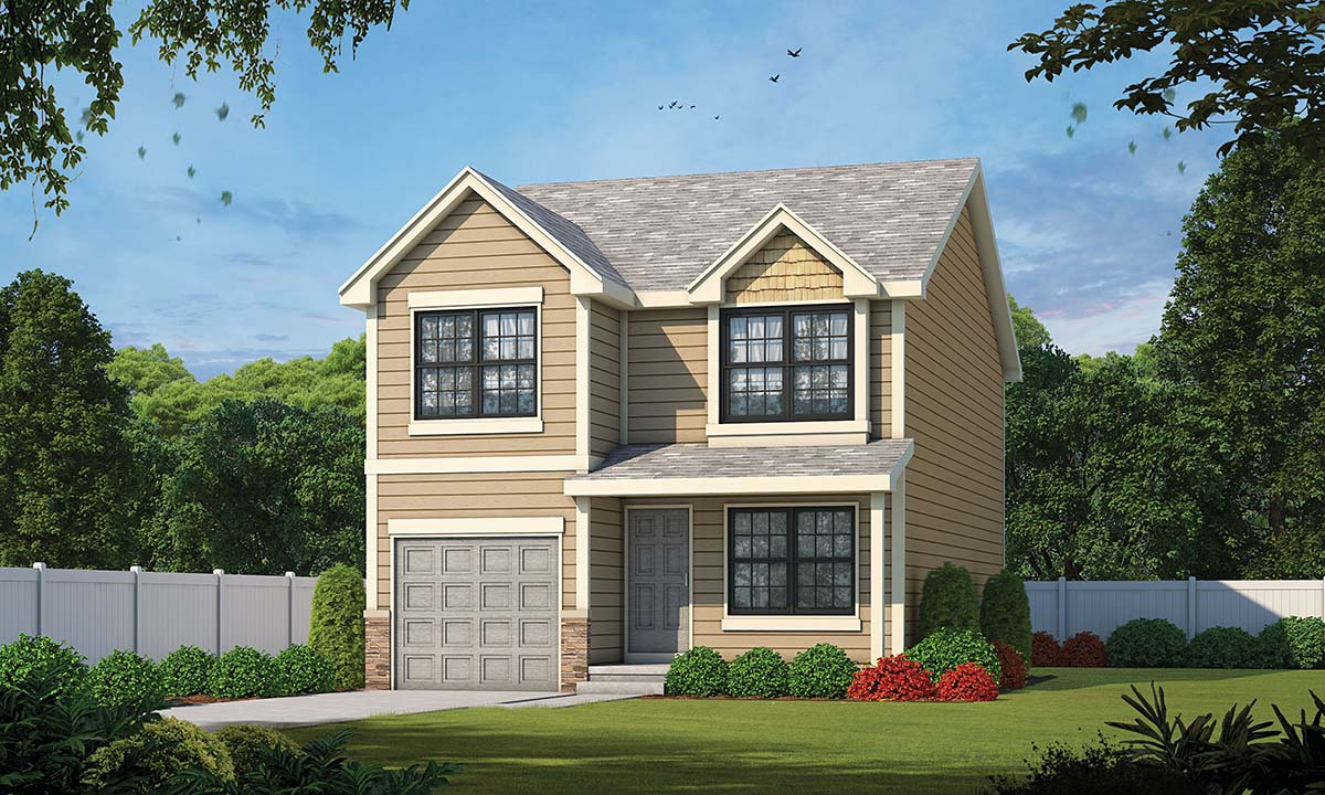 Traditional House Plan 97960 with 3 Beds, 3 Baths, 1 Car Garage Elevation