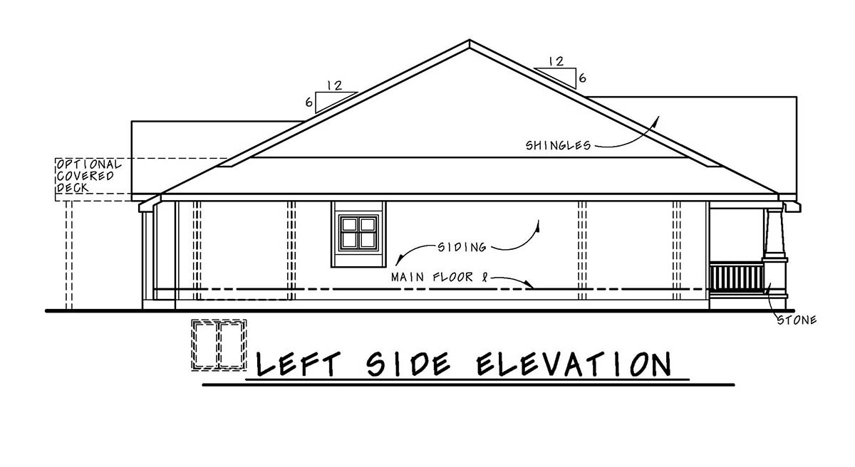 Bungalow, Cottage, Craftsman, Narrow Lot, One-Story House Plan 97987 with 2 Beds, 2 Baths, 2 Car Garage Picture 2
