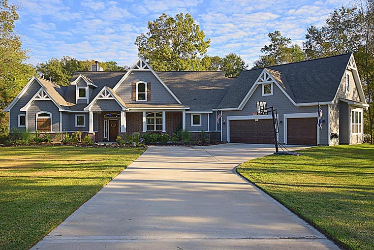 Country, Craftsman, Traditional, Tudor House Plan 98267 with 3 Beds, 4 Baths, 3 Car Garage Front Elevation