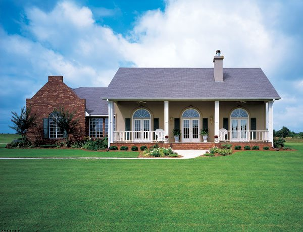 Prairie, Southwest House Plan 98366 with 4 Beds, 3 Baths, 3 Car Garage Elevation