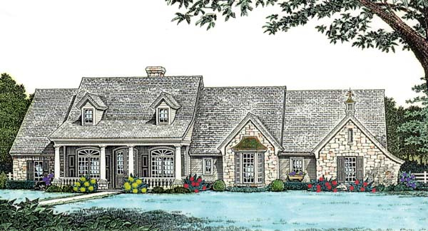 Bungalow, Country, One-Story House Plan 98589 with 3 Beds, 3 Baths, 3 Car Garage Elevation