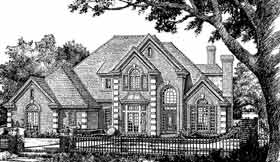 European, French Country House Plan 98596 with 4 Beds, 4 Baths, 3 Car Garage Elevation