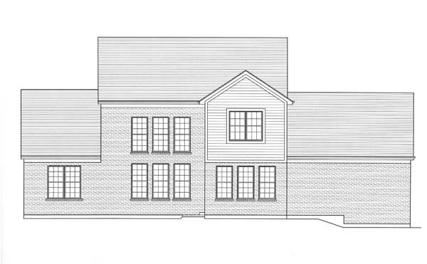 Country House Plan 98604 with 4 Beds, 3 Baths, 3 Car Garage Rear Elevation