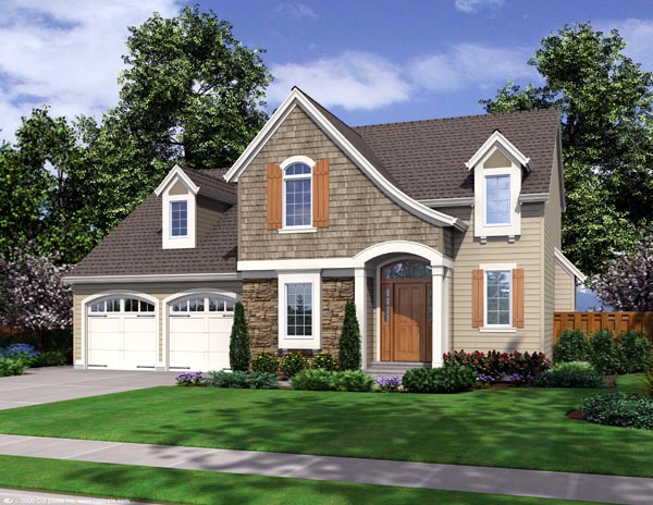 Traditional House Plan 98635 with 4 Beds, 3 Baths, 2 Car Garage Elevation