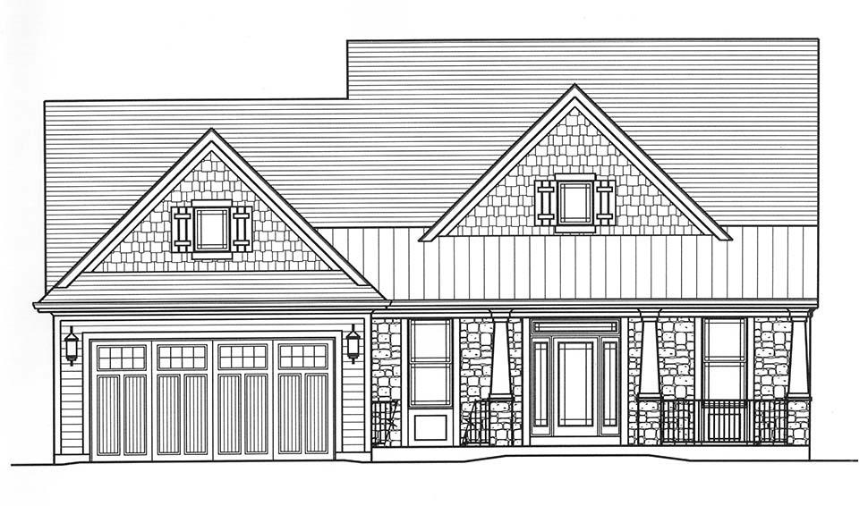 Bungalow, Cape Cod, Cottage House Plan 98698 with 4 Beds, 3 Baths, 2 Car Garage Picture 3
