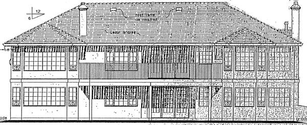 Florida, Mediterranean, One-Story, Ranch House Plan 98802 with 3 Beds, 3 Baths, 2 Car Garage Rear Elevation