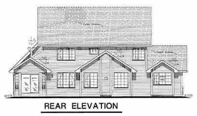 Country, Craftsman, Farmhouse House Plan 98850 with 5 Beds, 3 Baths, 2 Car Garage Rear Elevation