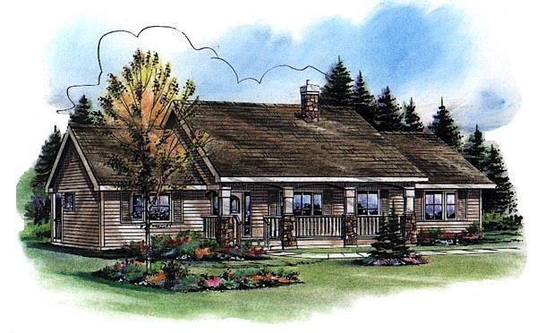 Ranch House Plan 98889 with 3 Beds, 2 Baths Picture 1